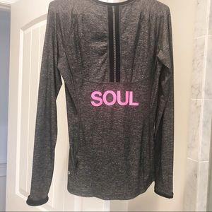 Lululemon Long Sleeve Size 8 SoulCycle Gray & Pink